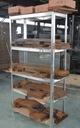 REGAŁ MAGAZYNOWY GARAŻOWY METALOWY 90x40x180 875kg Sposób montażu regał wciskany