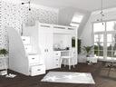 Łóżko piętrowe ZUZIA PLUS materace schodki biurko Bohater brak