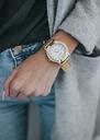 Zegarek damski złoty GENEVA biały cyrkonie Typ naręczny