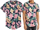 ABERCROMBIE Hollister T-Shirt Koszulka Kwiaty L