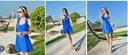 63B strój SUKIENKA kostium kąpielowy 38 M Kolor niebieski