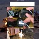 PROF ZEGAREK SURVIVAL BRANSOLETKA PARACORD 30M Funkcje gwizdek kompas krzesiwo linka