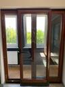 BALKON OKNO DĄB 177,5x218 PRZESUWNE Z WYSTAWKI Materiał Drewniane