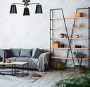 STYL SKANDYNAWSKI LAMPA SUFITOWA PERIOT 3 EMIBIG Kolor odcienie szarości czarny odcienie brązowego biały