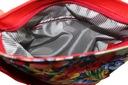 Modna torba torebka listonoszka czarna maki A4 Liczba kieszeni 1