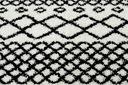 Dywan BOHO shaggy 140x190 biały frędzle #GR2854 Kolor kremowy biały czarny