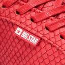 Buty BIG STAR damskie trampki czerwone BB274724 Długość wkładki 23.7 cm