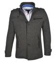 Płaszcz męski jednorzędowy klasyk szary EX1909 3XL Kolor szary