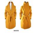 AWANTI flausz wiązany kobiecy PŁASZCZYK wrap Kolor żółty, złoty brązowy, beżowy