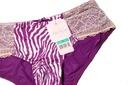 Figi koronkowe Affinitas by G.Grace 36/ 38 hipster Kolor fioletowy inny kolor wielokolorowy