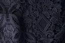 Sukienka na wesele koronkowa gipiura 1818 40 Kolor granatowy