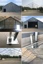 8x8m 3-5,1m Namiot magazynowy hala namiotowa Średnica rurek - dach 78 mm