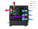 GAMING PC CASE ATX GENESIS TITAN 750 Obudowa LED Zasilacz w zestawie nie