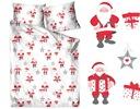 Pościel 100% bawełna 200x220 Bielbaw Santa Claus Materiał bawełna