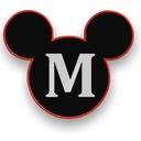 Myszka Miki Naszywka Duża!Aplikacja Termo!
