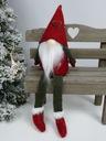 Рождественский гном гном, сидящий 30см Бордовый подарок