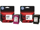 ZESTAW TUSZY HP 652 CZARNY+ KOLOR F6V25AE/F6V24AE