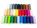 комплект 30 Нитки цветные Лучник для швейные нитки