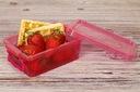 POJEMNIK NA ŻYWNOŚĆ PUDEŁKO LUNCHBOX 350 ML KOLORY Cechy dodatkowe możliwość mrożenia możliwość używania w kuchence mikrofalowej możliwość mycia w zmywarce
