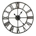 БОЛЬШОЙ металлический часы настенный 80 СМ Черный