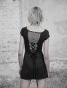 PUNK RAVE Top koszulka czarna siateczka goth XS-S Marka inna
