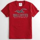 HOLLISTER by Abercrombie T-Shirt Koszulka USA M Wzór dominujący logo