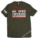 Koszulka NIE SPAĆ ZWIEDZAĆ ZAPIER*LAĆ HIT PREZENT Wzór dominujący inny wzór