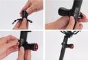 Tylna lampka USB ROWEROWA LED czujnik STOP Kolor dominujący czarny