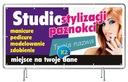 Baner reklamowy 2x1 - Manicure Projekt Gratis Oczkowanie co 50 cm