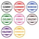 PIECZĄTKA COLOP 20 Z GUMKĄ 3-4 wersy 15 kolorów! Kolor odbicia czarny czerwony fioletowy niebieski zielony inny