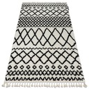 Dywan BOHO shaggy 140x190 biały frędzle #GR2854