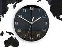 Zegar ścienny Mapa Świata 80 X 40 cm Czarna Cicha Typ ścienny