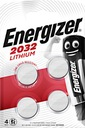 Батарейка литиевая Energizer CR 2032 3В блистер 4шт