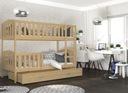Łóżko piętrowe KUBUŚ biały + materace + szuflada Płeć Chłopcy Dziewczynki