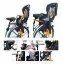 Fotel rowerowy FOTELIK na rower bagażnik pasy 5pkt Kolor dominujący szary
