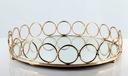 Taca lustrzana okrągła złota glamour 26,5cm