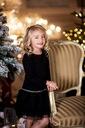 SUKIENKA All For Kids 128 134 ŚWIĘTA czarna pasek Marka Inna marka