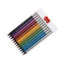 Карандаши, точилки для карандашей Металлические 12 цветов Jumbo Astra