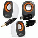 Głośniki Głośniczki Małe Mocne Grają USB mini Jack