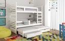 Łóżko piętrowe OLEK 3 osobowe Kolekcja Olek