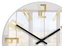 Zegar ścienny ModernClock SLIM ZŁOTE CYFRY CICHY Kolor inny złoty biały czarny