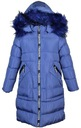 куртка зимняя М1-8001N16 длинное, стеганое, р. 158/164 доставка товаров из Польши и Allegro на русском