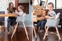 Krzesełko do karmienia Estella Pino 2w1, drewniane Wiek dziecka 6 m +