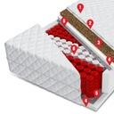 Materac kieszeniowy z kokosem 90x200 OPAL Rodzaj materaca Sprężynowe kieszonkowe