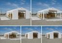 Namiot WINTER 8x10m magazynowy garaż zimowy HALA Kolor biały odcienie szarości