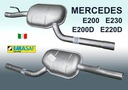 Tłumik MERCEDES E200 E230 E200D E220D W210 S210 Jakość części (zgodnie z GVO) Q - oryginał z logo producenta części (OEM, OES)