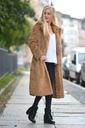 Długie futro futerko płaszcz kurtka miś Rękaw długi rękaw