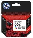 Zestaw tusz HP 652 Czarny F6V25AE + Kolor F6V24AE Kolor czarny (black)