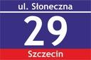 Tablica tabliczka adresowa z numerem domu 30X20 cm