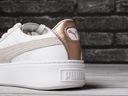 Buty damskie Puma Basket Platform 366814 02 Kolor biały szary, srebrny żółty, złoty